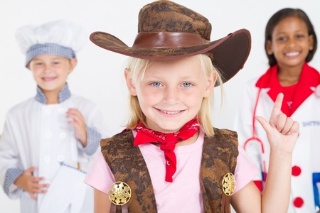 cute little cowgirl Stock Photo - 9169042