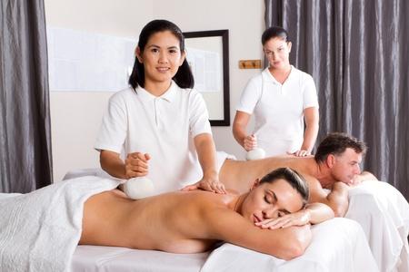 Thai spa herbal massage