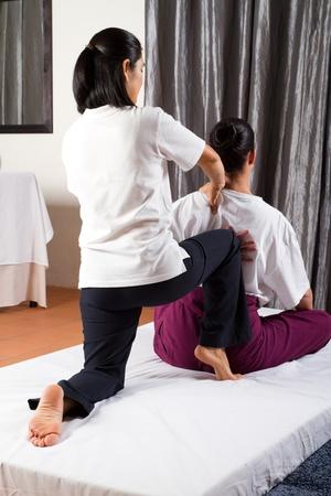 Thai massage stretch Stock Photo - 9526498
