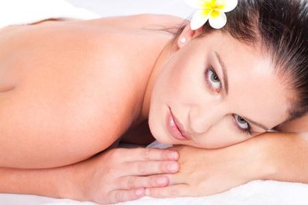 beautiful young woman in spa salon Stock Photo - 9526511