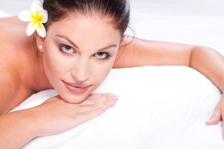 beautiful young woman closeup in spa salon Stock Photo - 9526426