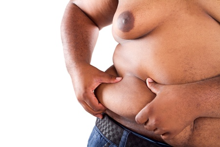 overweight african american man Stock Photo - 9844264