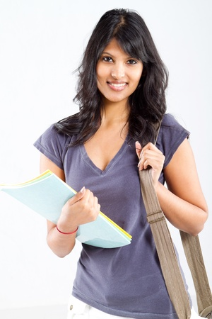 cute latin college student studio portrait Stock Photo - 9844263