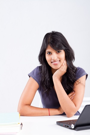 cute smiling indian female college student Stock Photo - 9844242