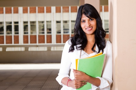female university student inside campus building Stock Photo - 9844013