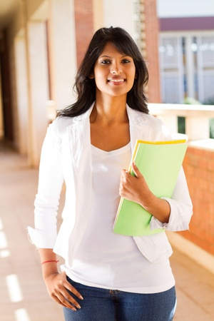 south indian: pretty female university student