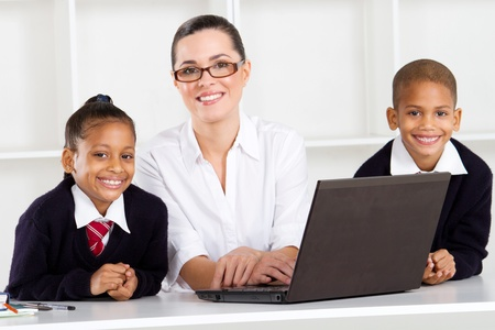 primary teacher and students portrait Stock Photo - 10747031