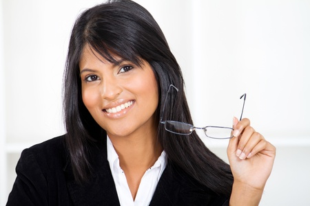 smart young indian businesswoman closeup portrait photo