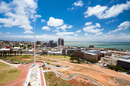 city view of Port Elizabeth, South Africa Stock Photo