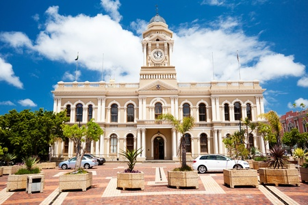 sunny south: city hall of Port Elizabeth, South Africa Stock Photo