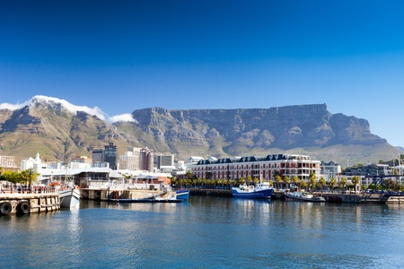 cape town v&a waterfront and table mountain photo