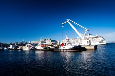 cape town harbour, south africa photo