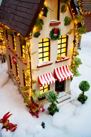 toy Christmas house closeup Stock Photo - 12107852