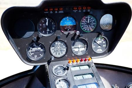 tablero de control: Helic�pteros instrumento y el panel de control