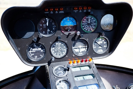 control panel: Helicopter instrument and control panel