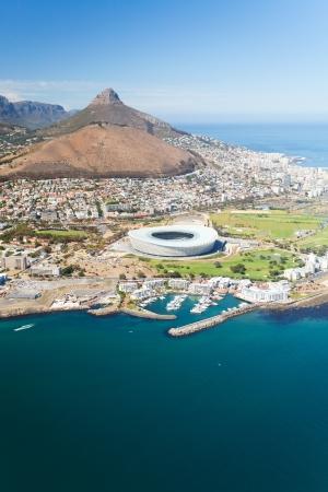 Luftaufnahme des Green Point Stadium in Kapstadt, Südafrika
