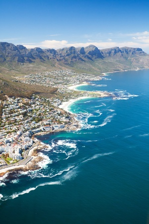 south coast: aerial view of coast of Cape Town, South Africa Stock Photo