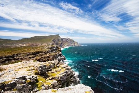 cape of good hope: landscape of cape of good hope, south africa Stock Photo