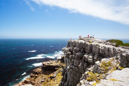 cape of good hope: tourists on cape of good hope, south africa Stock Photo