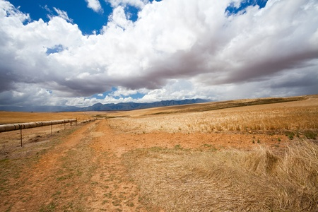south africa soil: open field in Western Cape, South Africa