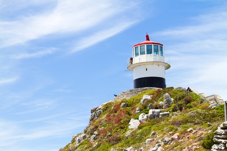 lighthouse on cape point, cape peninsula, south africa photo