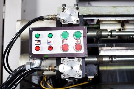control box: control box of a modern industrial printing press