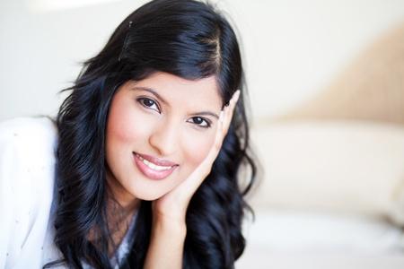 asian american: pretty woman portrait in natural light Stock Photo