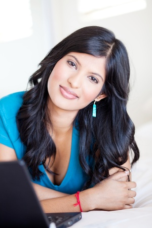 attractive young latin woman portrait  photo