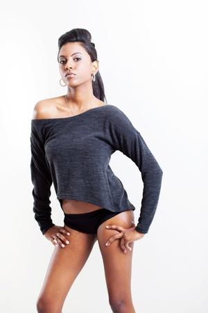 culotte fille: jeune femme de la mode indienne