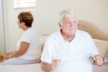 couple arguing: senior relationship problem