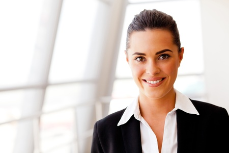 woman in suit: attractive young businesswoman portrait