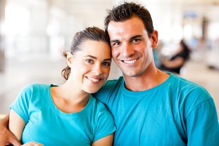 loving young couple portrait Stock Photo