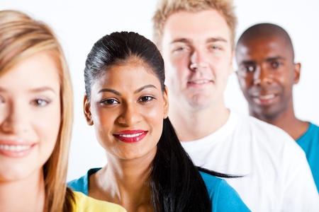 multi race: las personas de la diversidad - grupo de retrato primer plano diversas personas Foto de archivo