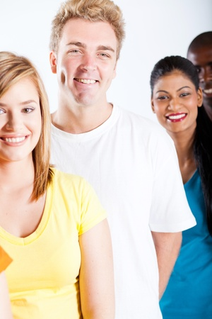 group of multicultural college students Stock Photo - 13058445