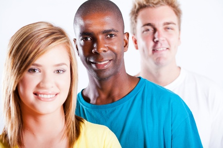 african american and caucasian people closeup portrait Stock Photo - 13058585