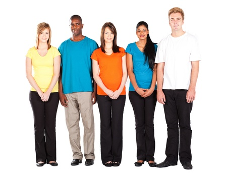 colorful people diversity isolated on white background photo