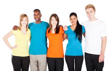 diversidad cultural: grupo de diversas personas aisladas en blanco