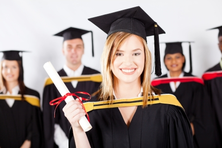 group of multiracial graduates at graduation Stock Photo - 13058644
