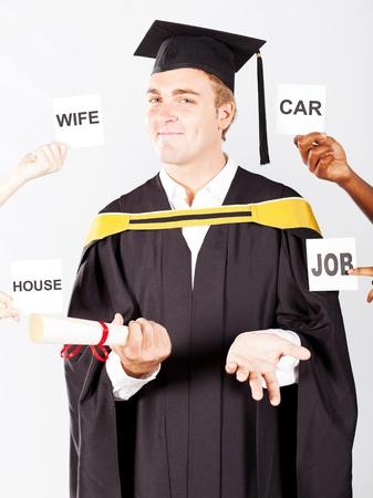 male graduates wish list photo