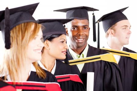 group of diverse graduates at graduation photo