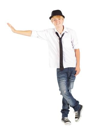 happy teen boy isolated on white Stock Photo - 13102801