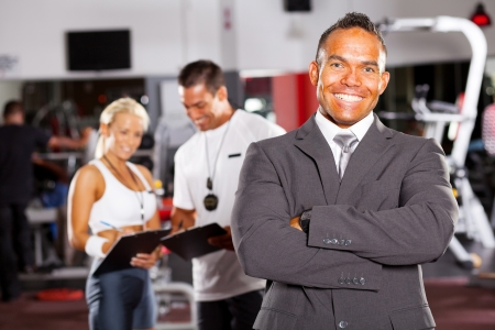 happy smiling male gym manager portrait Stock Photo - 13738704