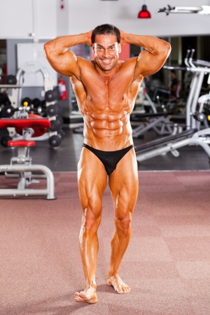 male professional bodybuilder in gym Stock Photo - 13738326