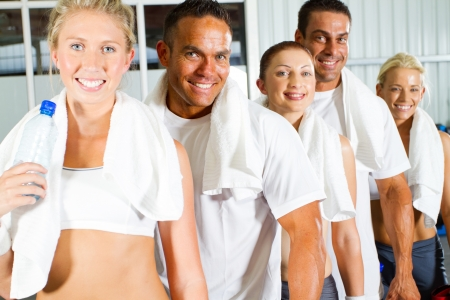 group of young people portrait in gym  Stock Photo - 13737480