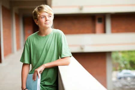 high school teen student daydreaming  photo
