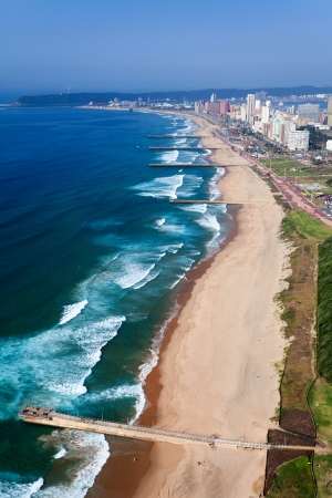 south coast: aerial view of durban, south africa