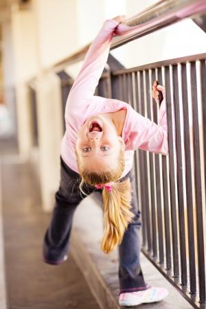 playful little girl photo