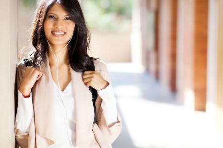 pretty female university student closeup portrait photo