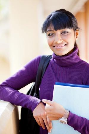 female indian high school student portrait photo