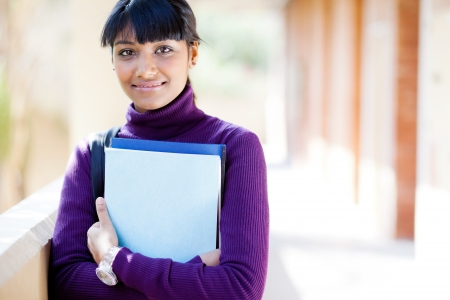 pretty indian college girl portrait on campus Stock Photo - 14669102